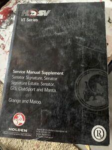 holden commodore HSV VT Service Manual.