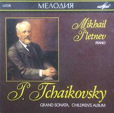 CD TCHAIKOVSKY - grand sonata, de los niños álbum, Pletnev, Melodiya