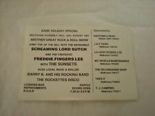 A Screaming Lord Sutch & Freddie Fingers Lee With The Sunsets Ticket - Melksham