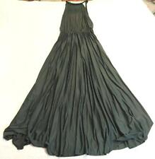 ASOS Womens Halter Pleated Waisted Maxi Dress CD4 Forest Green Size US:14 Tall