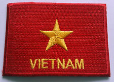 NATIONAL OLYMPIC COUNTRY FLAG (SMALL) SEW ON / IRON ON PATCH:- VIETNAM