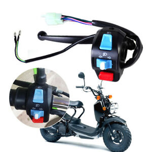 """Universal 7/8"""" Scooter Moped GY6 50cc 150 Left Brake Lever Light Switch Control"""