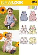 NEW LOOK SEWING PATTERN Babies' Romper, Dress & Panties SIZE NB - LARGE  6970