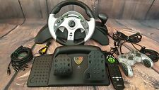 MAD CATZ MC2 Universal Racing Steering Wheel and Pedals for XBOX, GAMECUBE etc