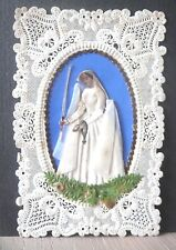 CANIVET, Holy lace card,santino merlettato, He!ligenbild communion Ed. Villemur