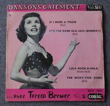 Teresa Brewer, dansons Gaiement vol 20 - if i were a train, EP - 45 tours