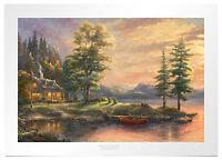 Thomas Kinkade Morning Light Lake 18 x 27 S/N Limited Edition Paper