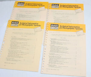 Kodak TIPS Tech Info Photo Systems Vol 2 No 1 2 3 4 - 1971 English - USED B113E