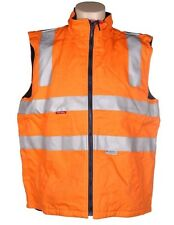 Hard Yakka Cotton Drill Vest (4XL, Orange) 3M Reflective Tape