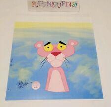 Friz Freleng Signed Pink Panther Original Hand Painted Animation Prod Cel w/Coa