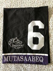 MUTASAABEQ 2020 BREEDERS' CUP JUVENILE TURF RACE WORN SADDLE CLOTH