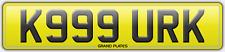K999 URK KURK NUMBER PLATE REGISTRATION ASSIGNED FREE KIRK NO FEES KIRKY KAUR