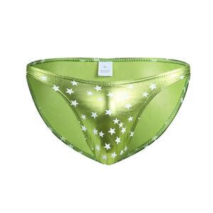 Men's Sexy Underwear Boxer Briefs Smooth Summer Star Printed Underpants Size XL