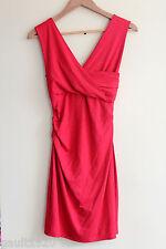 NWT Diane von Furstenberg DVF Sexy Parker Jersey Dress Red Currant P $285