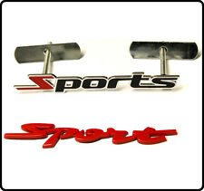 Sport Grill + Rear Boot Badge Set Emblem Universal Fit Car Styling Trunk 24s