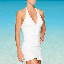 NEW ATHLETA Women's Swimsuit Shirrendipity Halter Swim Dress SIZE S/S TALL Flaw