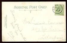 Channel Islands SARK 1908 PPC fine single ring postmark cancel
