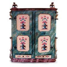 Bauernschrank antik bemalt großer Schrank Kleiderschrank Garderobe Möbel Kasten