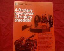 International Australia, 4-8 & 4-9 Mower slasher sales brochure, MINT CONDITION.