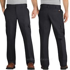 Mens Dickies Work Pants Regular Fit Straight Leg Cargo Pockets Pant WP595 Colors