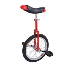 """18"""" Wheel Unicycle Chrome Unicycles Cycling Outdoor Sports Fitness Exercise Red"""