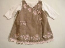 Corduroy Casual Floral Dresses (0-24 Months) for Girls