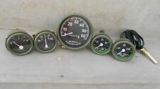 Willys MB Jeep Ford GPW  Gauges Kit - Speedometer  Temp-Oil Fuel Ampere   Green