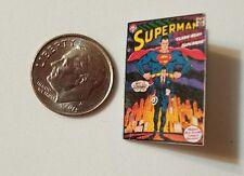 Miniature dollhouse book 1/12  Comic Book Tv show Action Figure Superman B