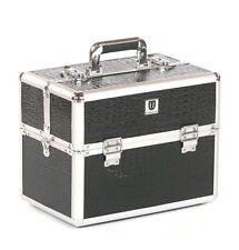 Vanity case Makeup box Cosmetic Beauty Nail Hair Jewellery Storage black croc