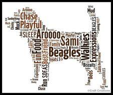 BEAGLE Cane Word Art Print PICTURE regalo compleanno amico Pet RECORD MONDIALE