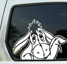 "Eeyore Waving Peeking White 6"" Car Truck VINYL Decal Art Wall Sticker"