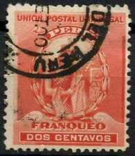 Peru 1896-1900 SG#338, 2c Red, Atahualpa Used #E1261