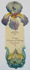 1904 St Louis World's Fair Advertising Bookmark Celluloid Scruggs dry goods old