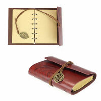 Notebook Diary String Travel Leather Paper Journal Book Sketchbook