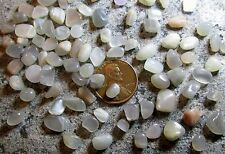 50 Extra Tiny Moonstone Tumbled Mini Stones: 5mm to 10mm- Undrilled/ no holes