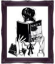 Fashion Art Vogue Art Fashion Illustration Art Handbag Bag Art Living Room Art