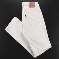 Vintage LEVI'S 501 Beige Denim Regular Straight Jeans Mens W31 L34