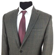 RALPH LAUREN Mens 40R Green Blue Red Houndstooth 2-Button Wool Sport Coat Jacket