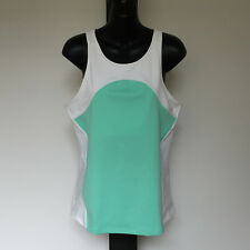 'COUNTRY ROAD' BNWT SIZE 'XL' MINT GREEN & WHITE RACER BACK WITH ZIP DETAIL