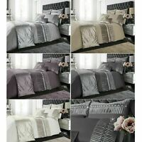 PORTO Crushed Velvet Diamante Duvet Cover Set Bedding Sets / Runners / C. Covers
