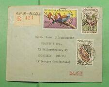 Dr Who 1961 Senegal Dakar Registered Airmail To Germany f79852