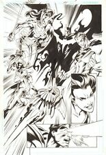 Trinity #45 p.4 - vs. Owlman, Superwoman, and Ultrama 2009 art by/signed Bagley