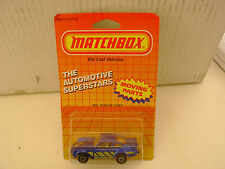 1987 MATCHBOX SUPERFAST #3 BLUE 911 PORSCHE TURBO NEW MOC