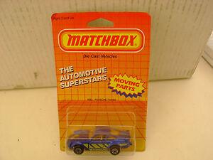1987 MATCHBOX SUPERFAST #3 BLUE 911 PORSCHE TURBO NEW ON CARD