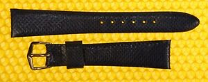 17mm Vintage OMEGA Real-Snake Leather Watch Strap Band MIDNIGHT BLUE <NWoT>
