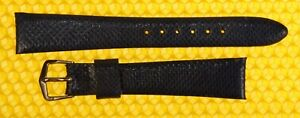 17mm Vintage OMEGA Real-Snake Leather Watch Strap Band MIDNIGHT BLUE 17x13 NWoT