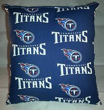 Titans Pillow NFL Pillow Tennessee Titans Pillow Football Pillow HANDMADE In USA