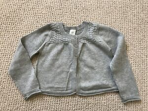 Baby Gap Girls Cropped Cardigan. Grey. 2 Years. New With Tags.