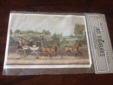 Decoupage Paper Vintage Retro Stage Coach Crafting Cunningham Art