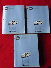 2004 Saturn ION Service Manual 3-Volume Set! Service/Body/Chassis/Electricals